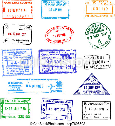 Passport Stamps Clipart And Stock Illustrations 6671 Vector EPS Drawings Available To Search From Thousands Of Royalty