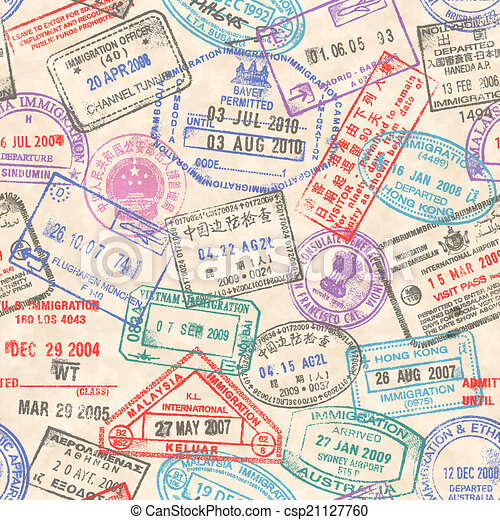 passport stamps seamless texture a seamless texture composed by