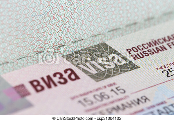 passport with to the Russian Federation - csp31084102