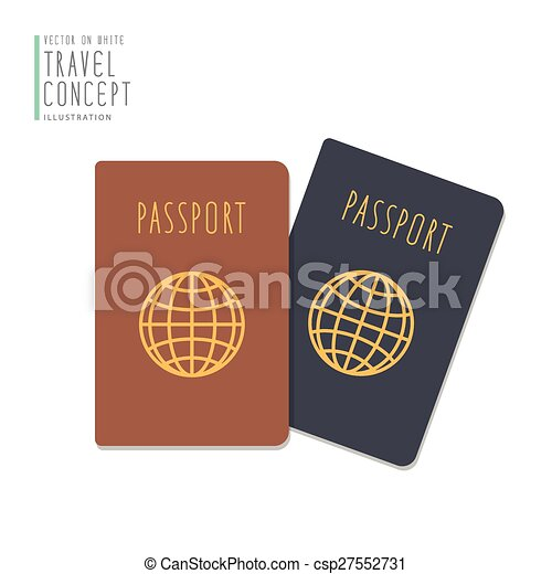 Passports flat vector. - csp27552731