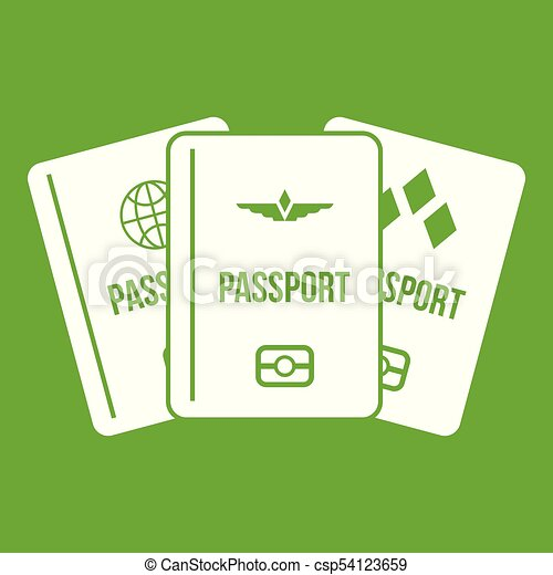 Passports icon green - csp54123659