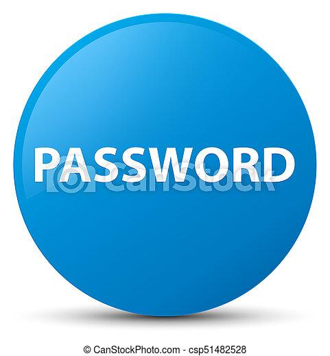 Password cyan blue round button - csp51482528