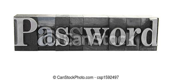 password in metal type - csp1592497