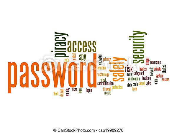 Password word cloud - csp19989270