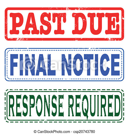 past due final notice stamp - csp20743780