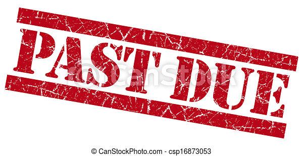 Past Due grunge red stamp - csp16873053