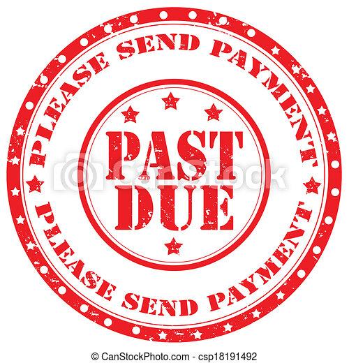 Past Due-stamp - csp18191492
