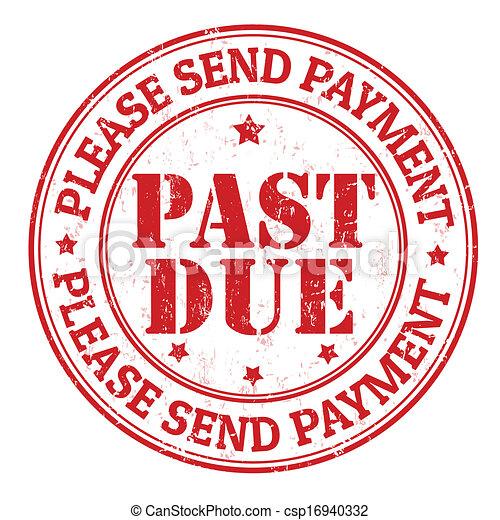 Past due stamp - csp16940332