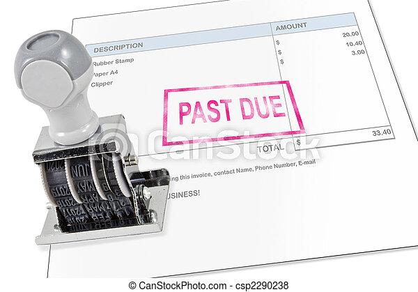 Past Due Stamp - csp2290238