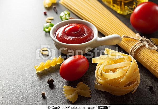 pasta and food ingredient - csp41633857