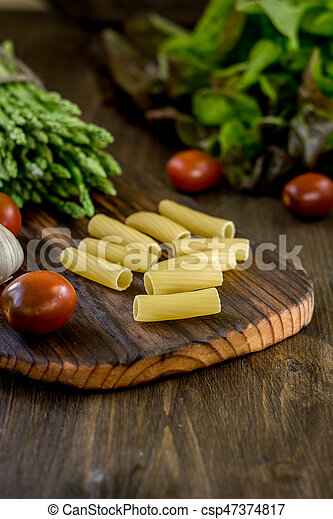 Pasta, asparagus and other vegetables - csp47374817
