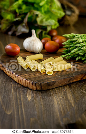 Pasta, asparagus and other vegetables - csp48078514