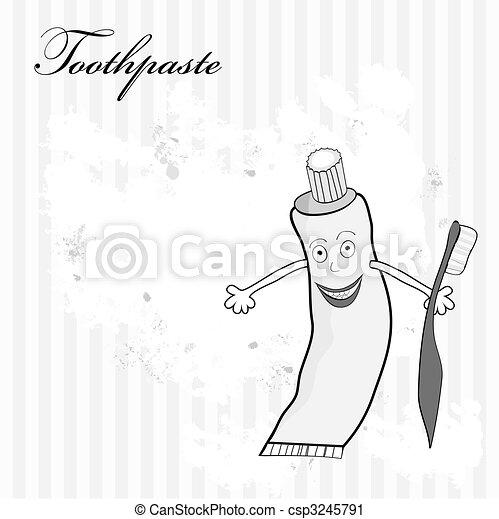 Ilustración estilizada con dentífrico - csp3245791