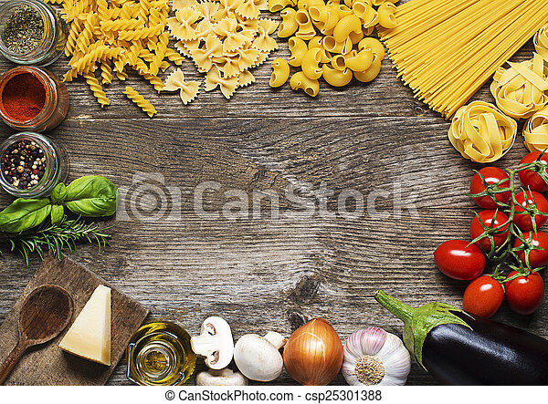 Pasta ingredients - csp25301388