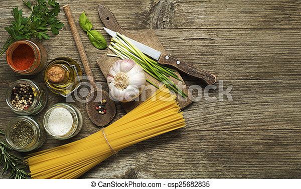 Pasta ingredients - csp25682835