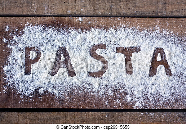 Pasta word with background - csp26315653