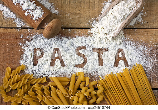 Pasta word with background - csp24510744
