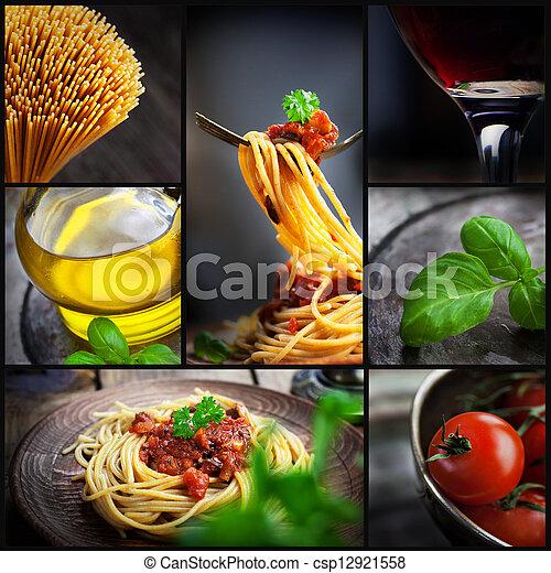 Pasta collage - csp12921558