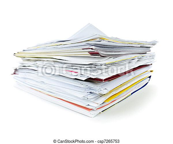 pastas, documentos - csp7265753