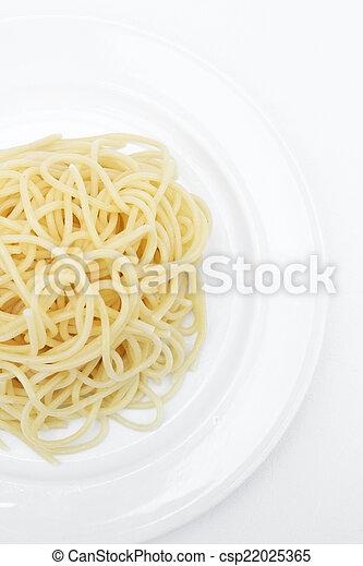 pastas, espaguetis - csp22025365