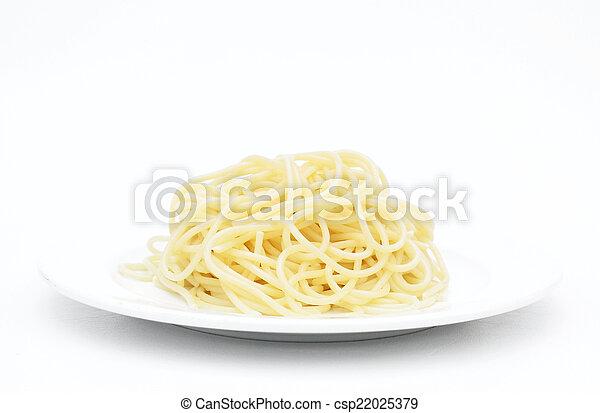 pastas, espaguetis - csp22025379