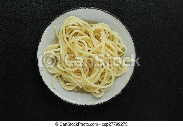 pastas, espaguetis - csp27799273