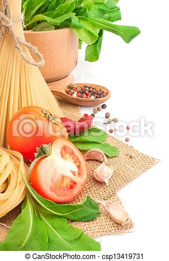 pastas, italiano - csp13419731