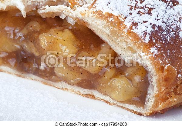 pastei, appel, -, op, pastei, afsluiten, stuk - csp17934208