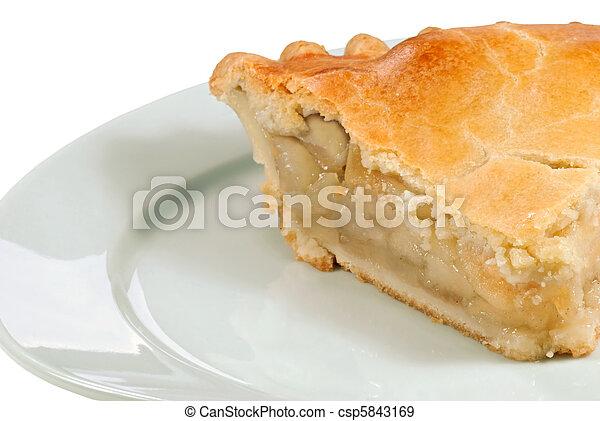 pastei, dichtbegroeid boven, appel - csp5843169