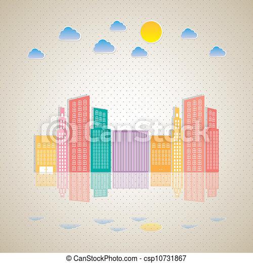 pastel, bâtiments - csp10731867