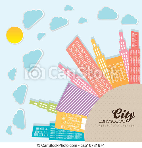 pastel, bâtiments - csp10731674
