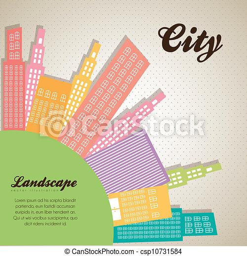 pastel, bâtiments - csp10731584