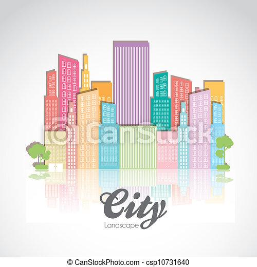 pastel, bâtiments - csp10731640
