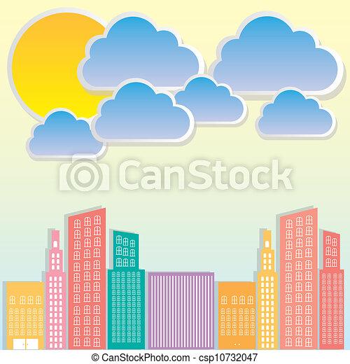 pastel, bâtiments - csp10732047