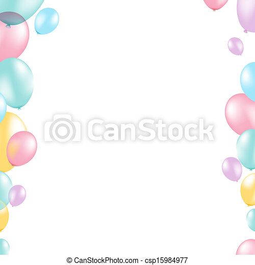 Pastel balloon border with gradient mesh vector illustration pastel balloon border csp15984977 thecheapjerseys Gallery