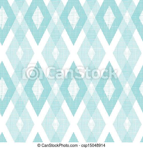 Pastel blue fabric ikat diamond seamless pattern background - csp15048914