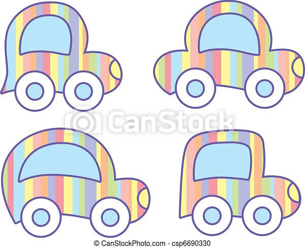 pastel cars - csp6690330