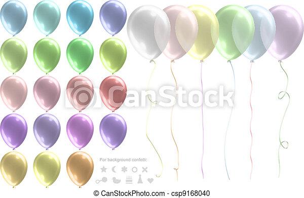 pastel colored balloon set
