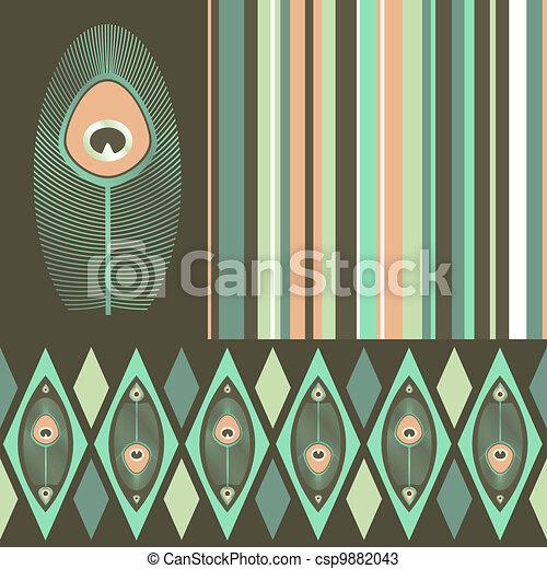 Kit de patrones sin mancha en colores pastel - csp9882043