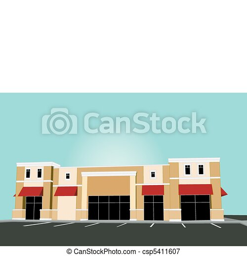 pastel commercial store red awning - csp5411607