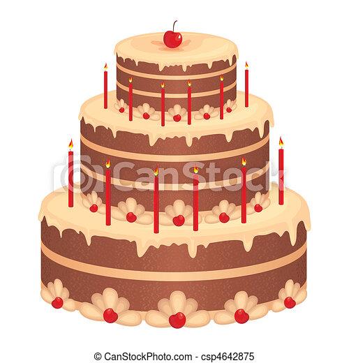 Pastel de cumpleaños - csp4642875