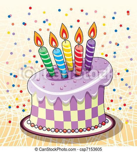 Pastel de cumpleaños - csp7153605