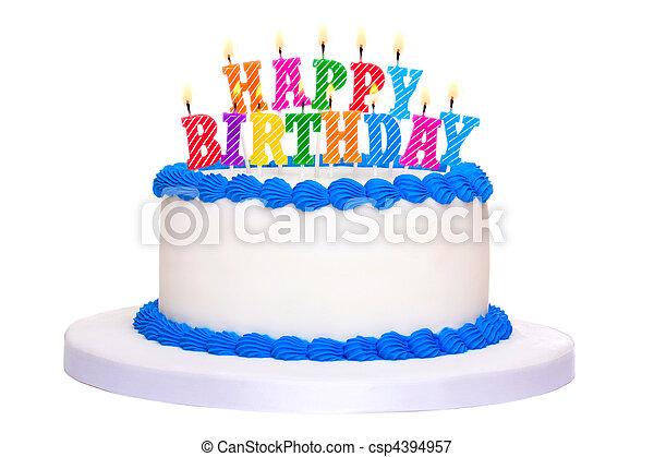 pastel, cumpleaños - csp4394957