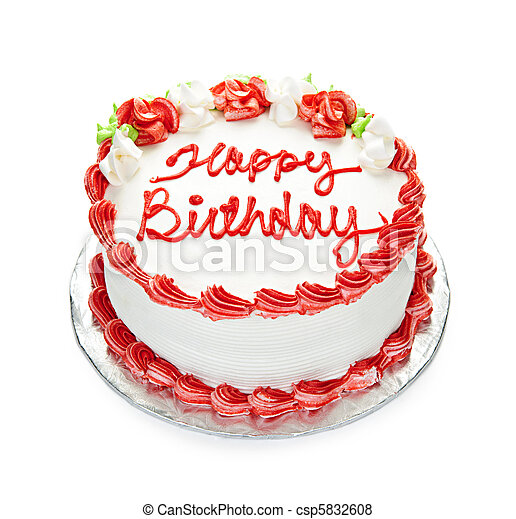 pastel, cumpleaños - csp5832608
