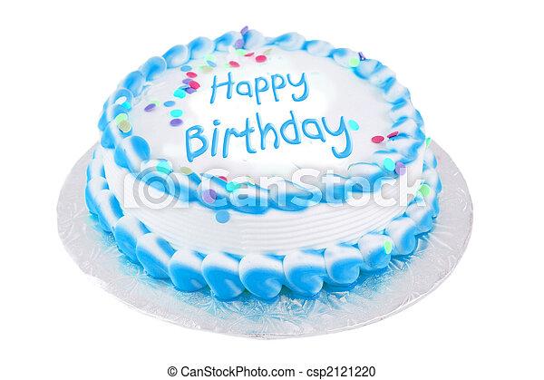 Feliz pastel festivo de cumpleaños - csp2121220
