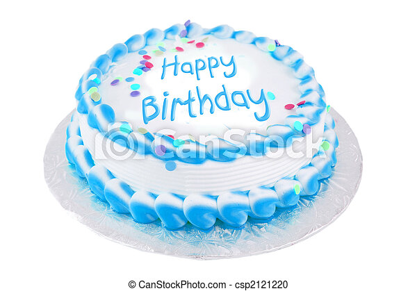 pastel, feliz cumpleaños, festivo - csp2121220
