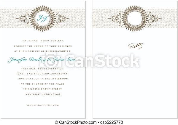 pastel, frame, vector, set, trouwfeest - csp5225778