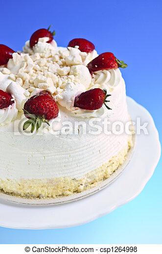 Pastel de merengue de fresa - csp1264998