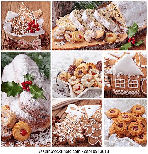 Galletas de jengibre navideñas y tortas - csp10913613