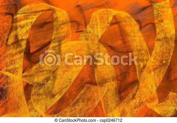 Pastel Grunge Background: Black Yellow Orange - csp0246712